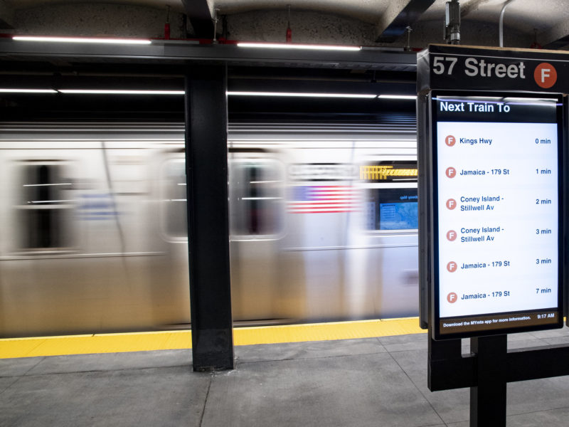 Views of the 57 St Station on the F line