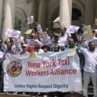 taxi drivers rally