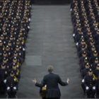 Bill de Blasio at Police Graduation