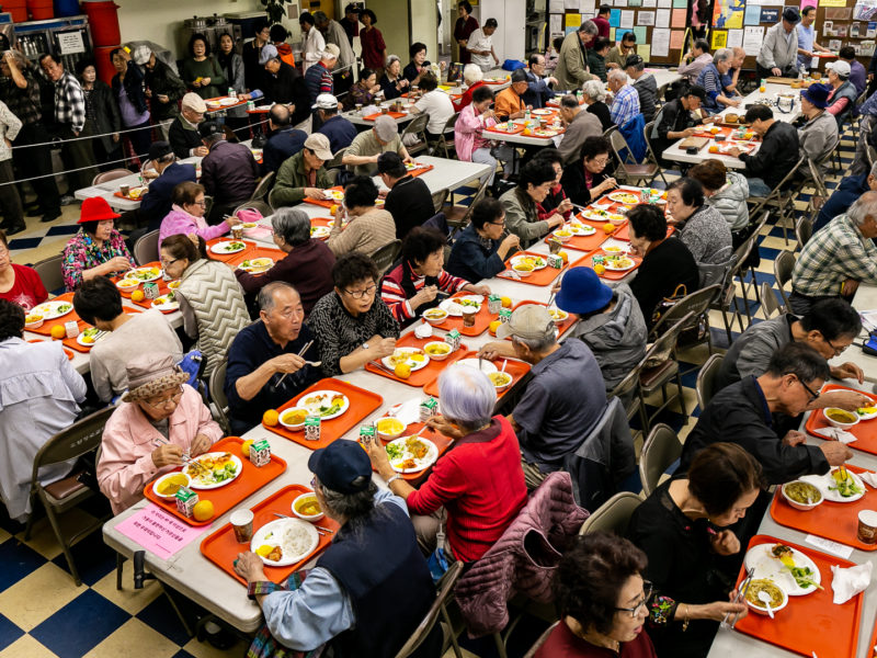Lunch time at the Senior Center