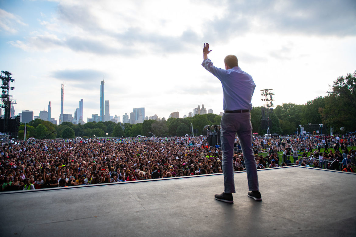 De Blasio at Global Citizen Festival
