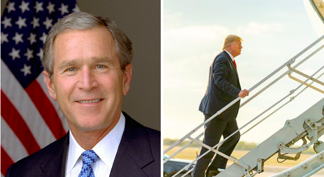 GWB and DJT