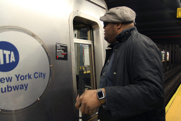 Victor Andrews on the subway