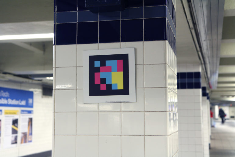 Wall tiles that work with the app NaviLens