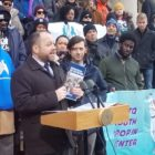 Council homeless report unveiled Corey Johnson Steve Levin