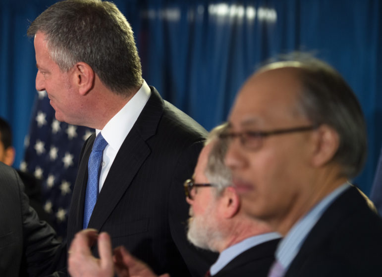 Mayor de Blasio and DYCD commissioner Chong