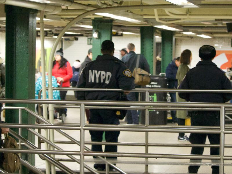 police in the subway system