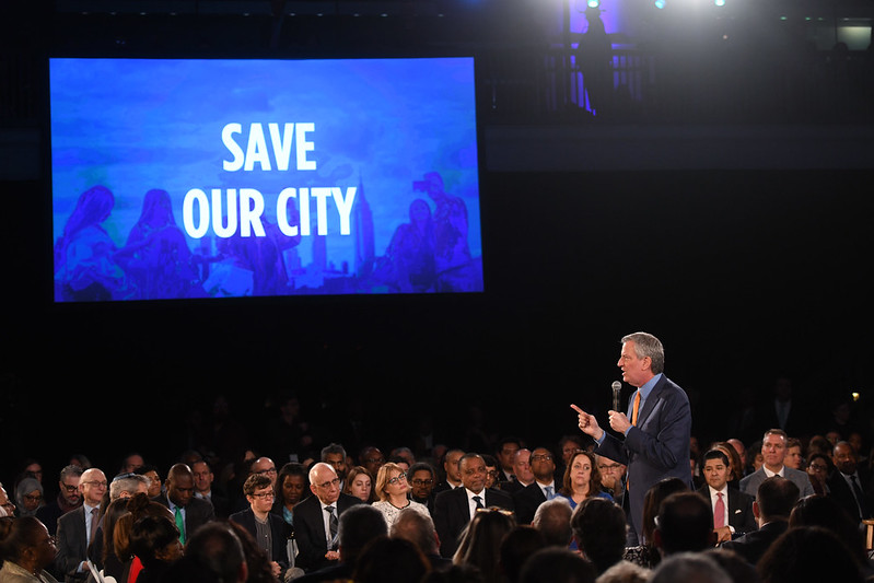 Mayor Bill de Blasio delivers his seventh State of the City