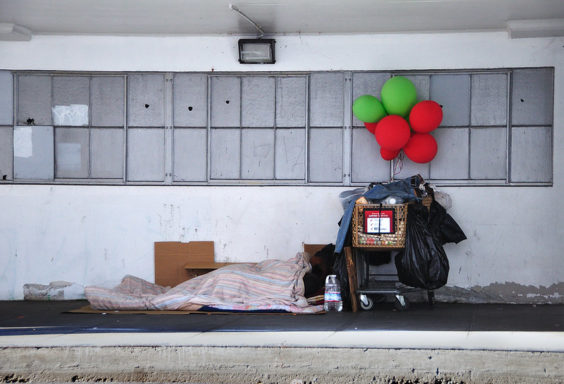 A homeless couple in San Franscisco in 2010.