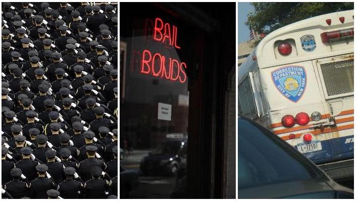 criminal justice images: cops, bail and the bus to jail