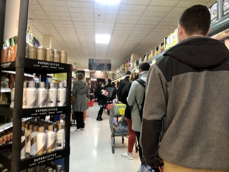 Astoria supermarket lines
