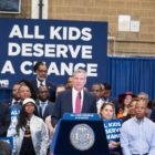 Mayor de Blasio at J.H.S. 292