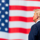 President Trump and Old Glory