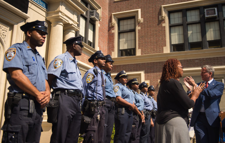 de blasio and school safety officers