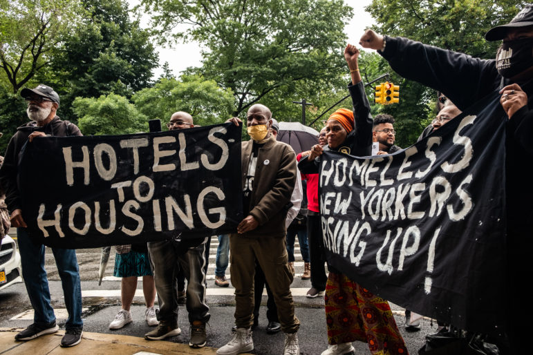 Shelter Residents Challenge de Blasio's Homeless Hotel Clearance Policy in Court